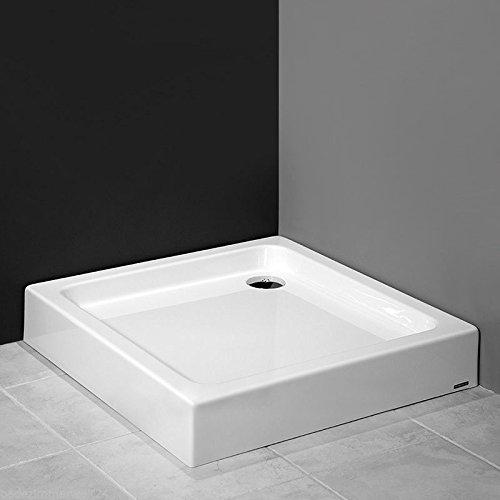 AQUABAD® Duschwanne/Duschtasse mit Styroporträger, integrierte Acrylschürze