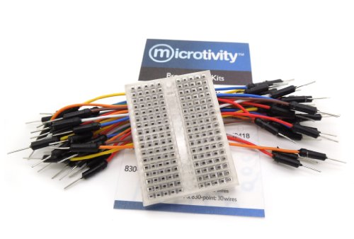 microtivity IB181 170-point Mini Breadboard for Arduino w/ Jumper Wires (Transparent)