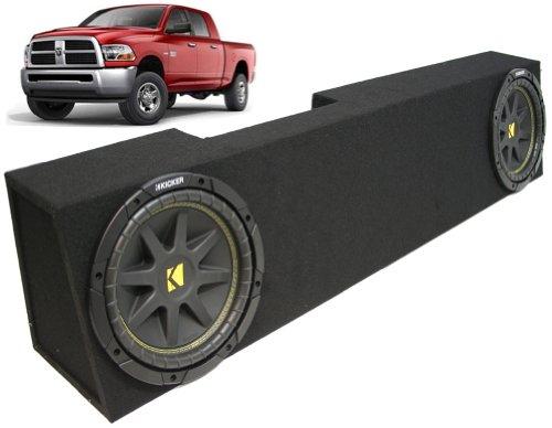 "Asc Package Dodge Ram 2006-2013 Mega Cab Truck Dual 10"" Kicker C10 Subwoofer Sub Box Enclosure 600 Watts Peak"