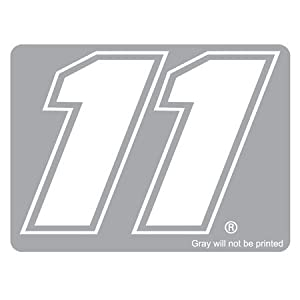 Buy #11 Denny Hamlin Thermal 8 Inch Diecut Number Decal Motorsports Authentics by Brickels