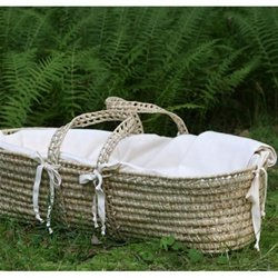Organic Moses Basket - Little Merry Fellows Baby Moses Basket front-3107