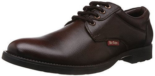 Lee Cooper Men's Brown Leather Boat Shoes - 10 UK