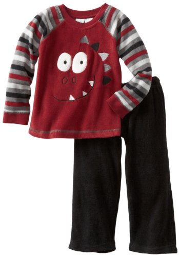 Baby Togs Boys 2-7 Microfleece Set, Red, 4T