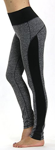Prolific Health Yoga Pants Fitness Flex Power Leggings - All Colors - S - L (Small, Gray/Black)