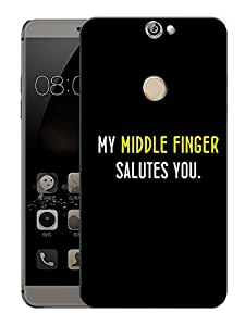 """My Middle Finger Salutes YouPrinted Designer Mobile Back Cover For """"Coolpad Max"""" (3D, Matte, Premium Quality Snap On Case)"""