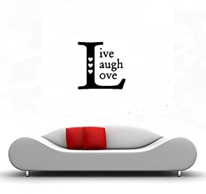 LIVE LAUGH LOVE SQUARE - Family Country Design - Vinyl Wall Room Decal Sticker #W007 | Color: Midnight Black from NS-FX