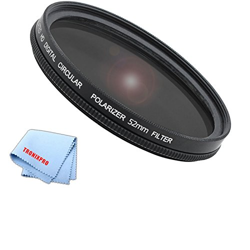 Tronixpro 52CPL 52mm Pro Series Multicoated High Resolution Circular Polarized Filter with Microfiber Cloth (Polarized Filter 52mm compare prices)