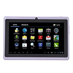 "7"" inch Touch Screen Allwinner A13 1.0GHz CPU Android 4.0 Tablet PC 4GB HDD 512MB WiFi (Purple)"