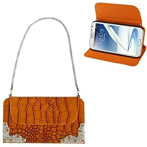 Wallet Style Crocodile Texture Leather Case with Credit Card Slots & Holder for Samsung Galaxy Note 2 N7100 (Orange)