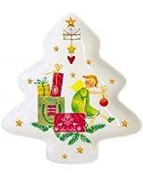 Mini assiette Cadeaux de Noël - forme sapin