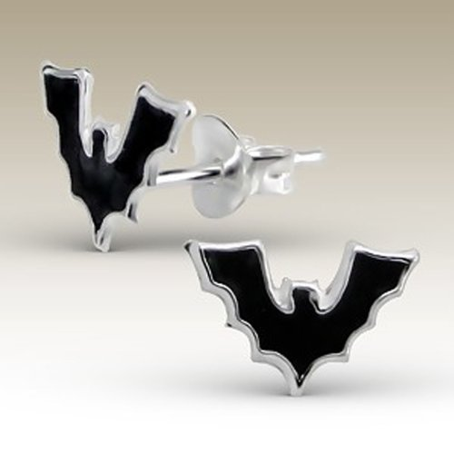Children's Silver Bat Stud Earrings