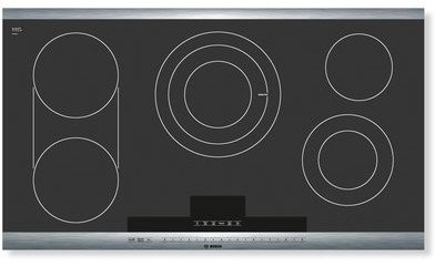 Bosch NET8654UC 36 800 Series Smoothtop Electric Cooktop  ->  From the simple elegance of the ceramic-glass cook
