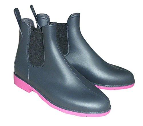 isotoner-suola-profilo-luton-bicolore-impermeabile-taglia-41-colore-antracite-rosa-stivaletti-in-gom