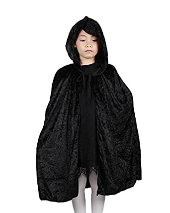 YarBar Kids Unisex Hooded Cape Halloween Costume Vampire Fancy Dress Witches Cloak