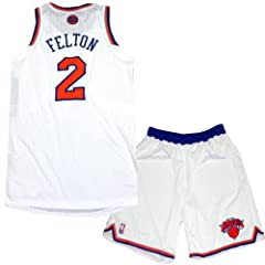 Raymond Felton Uniform - NY Knicks 2013-2014 Season Game Used #2 White and Orange... by Steiner Sports
