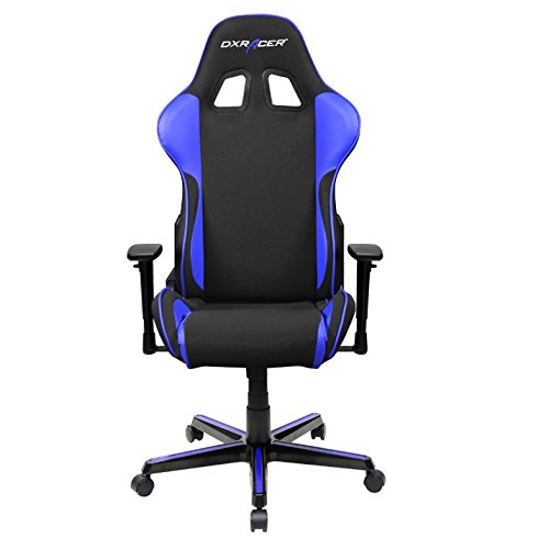 DXRacer-OHFH11NI-Formula-Series-Black-and-Indigo-Gaming-Chair-Includes-2-free-cushions-and-Lifetime-warranty-on-frame