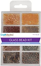 Glass Bead Kit 45Grams/Pkg-Nuggets - Glass Bead Kit 45Grams/Pkg-Nuggetsmulticraft Imports-Glass Bead Kit. This Kit Contains A Great Selection Of Beads That Will Work Well With Any Jewelry Making Proj