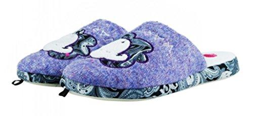 DE FONSECA ciabatte pantofole invernali da donna mod. SWEET DI68 lilla (38/39)