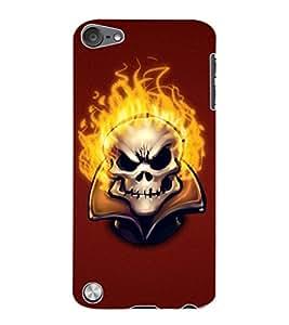 ColourCraft Burning Skull Design Back Case Cover for APPLE IPOD TOUCH 5