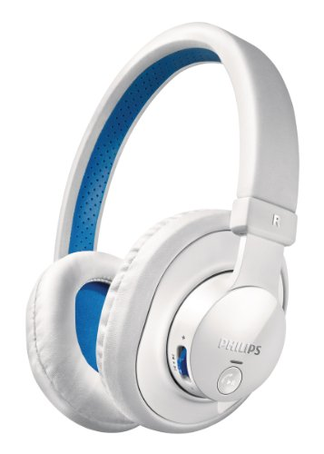 Casque Philips SHB7000 /10 + jack - Blanc - Bluetooth 3.0 - Hifi/Nomade
