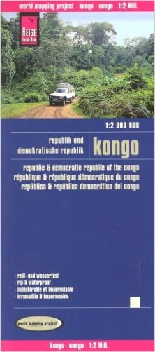 Congo Brazzaville & Democratic Republic of Congo 1:2,000,000 Travel Map, waterproof, REISE, 2012 edition written by Reise Knowhow