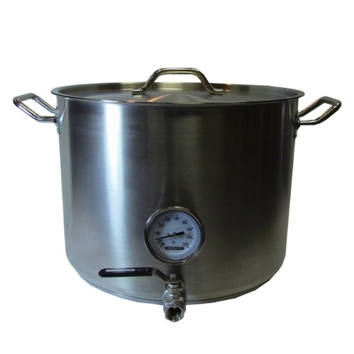 10 Gallon Kettle w/ Valve & Thermometer Picture