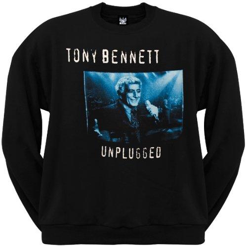 Old Glory Mens Tony Bennet - Unplugged Crew Neck Sweatshirt - X-Large Black