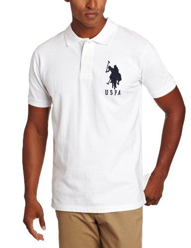 U.S. Polo Assn. Men's Solid Short-Sleeve Pique Polo Shirt u s polo assn men s short sleeve pique polo shirt with multi color pony logo