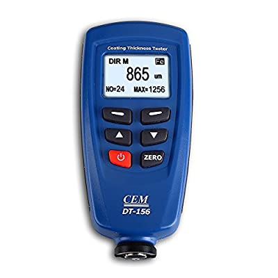 CEM DT-156 Paint Coating Thickness Gauge Meter Tester Auto F/NF Probe with V-groove 0~1250um/0~49.2mils