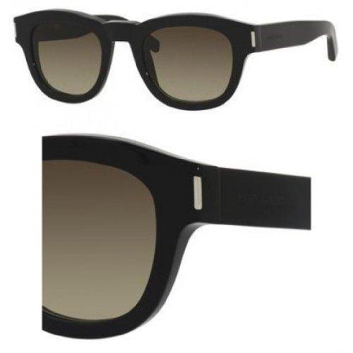 Yves Saint LaurentYves Saint Laurent Bold 2/S Sunglasses-0807 Black (HA Brown Gradient Lens)-49mm