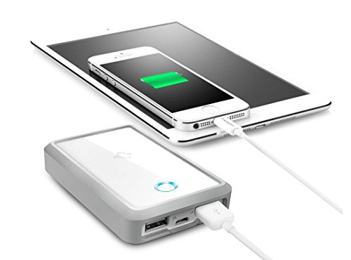 Spigen モバイル バッテリー F70Q デュアル 7000mAh 2USBポート 同時充電 落下衝撃吸収 エアクッションケース ケーブル付 iPhone5S 5C 5 4S/iPad Mini Retina/iPad/Xperia/Galaxy/Android/各種スマホ/Wi-Fiルータ等対応/ポータブル クイック チャージャー SGP10922