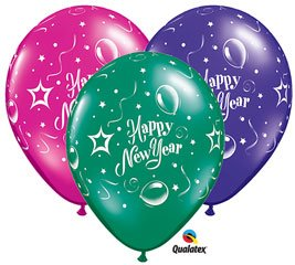 Happy New Year Latex Balloons