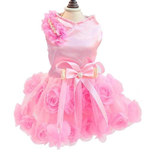 BBX Deals Doggy Pet Dog Clothes Party Summer Dress Rose Wedding Dress Dog Pet Puppy Clothing Dog Fashion Dress EUB Transport 7-15 days (Doggy Clothing)