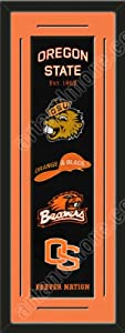 Heritage Banner Of Oregon State Beavers With Team Color Double Matting-Framed Awesome... by Art and More, Davenport, IA