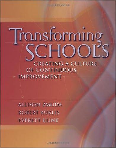 Book cover: transforming schools: creating a culture of continuous improvement