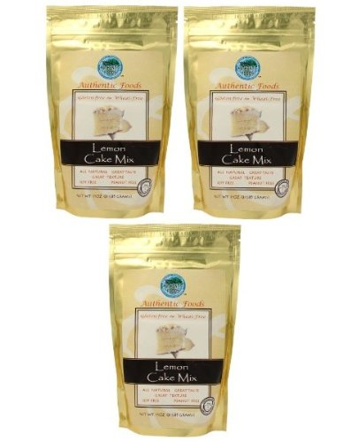 Authentic Foods, Mix Gfwf Cake Lemon, 11 OZ (Pack of 3)