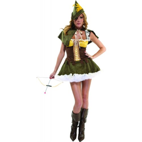 Sassy Swindler Female Robin Hood Adult Costume Size Small/Medium