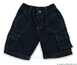 Under The Nile Denim Cargo Shorts, Blue, 18 Months