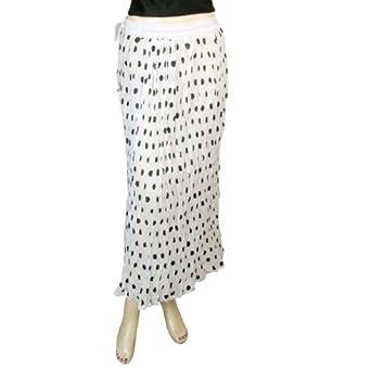 Jupe blanche à pois noirs - Vêtement décontracté pour fille 46 [X-Large]
