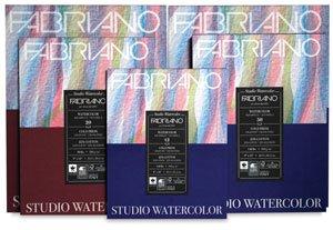Fabriano Studio Watercolor Paper 90 lb. Hot Press 75-Sheet Pad 11x14 (Color: White, Tamaño: 11x14 in)