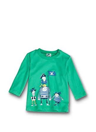 Sanetta Baby - Jungen Sweatshirt 123339, Gr. 68, Grün (4462)