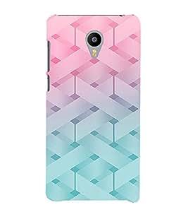 PrintVisa Modern Art Knitted Pattern 3D Hard Polycarbonate Designer Back Case Cover for Meizu M2