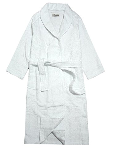 綿100% タオル地バスローブ フリーサイズ (ホワイト) [ウェア&シューズ]