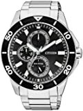 Citizen Herren-Armbanduhr XL Analog Quarz Edelstahl AP4030-57E