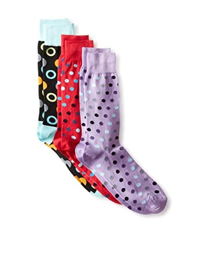 Jared Lang Men's Dotted Socks - 3 Pack, Multi, One Size