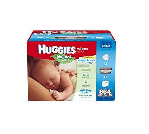 Huggies Natural Care Fragrance Free Baby Wipes Refill 648