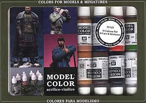 Face & Skin Tones Model Color Paint Set 17ml Bottle Acrylic (16 Colors)