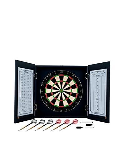 Trademark Games Black Laminate Dart Cabinet Set, Black/Yellow