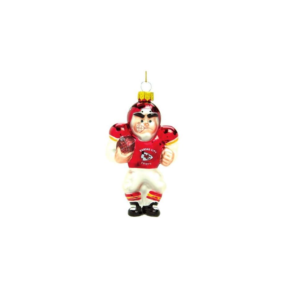 Kansas City Chiefs NFL Glass Player Ornament (4 Caucasian)