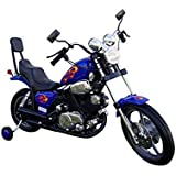 Chopper Motorcycle 6 V Kids Battery Powered Ride On Car Blue